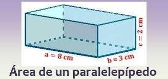 area de paralelepípedo