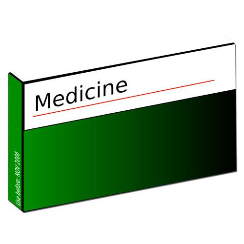 caja de medicina paralelepípedo