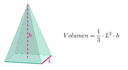 volumen piramide cuadrangular
